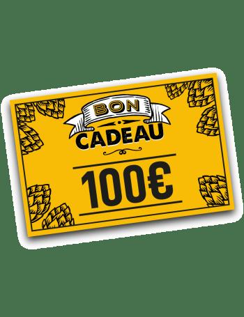 Bon cadeau bière 100 euros