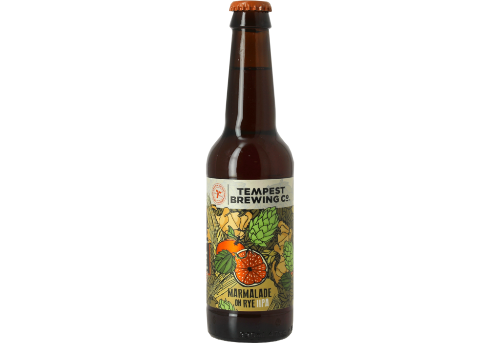 Bière Marmalade on rye Tempest Brewing Co