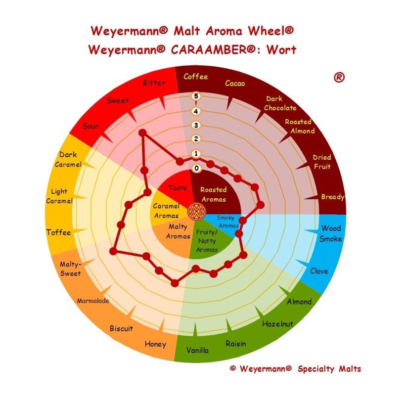Profil aromatique Malt Caraamber