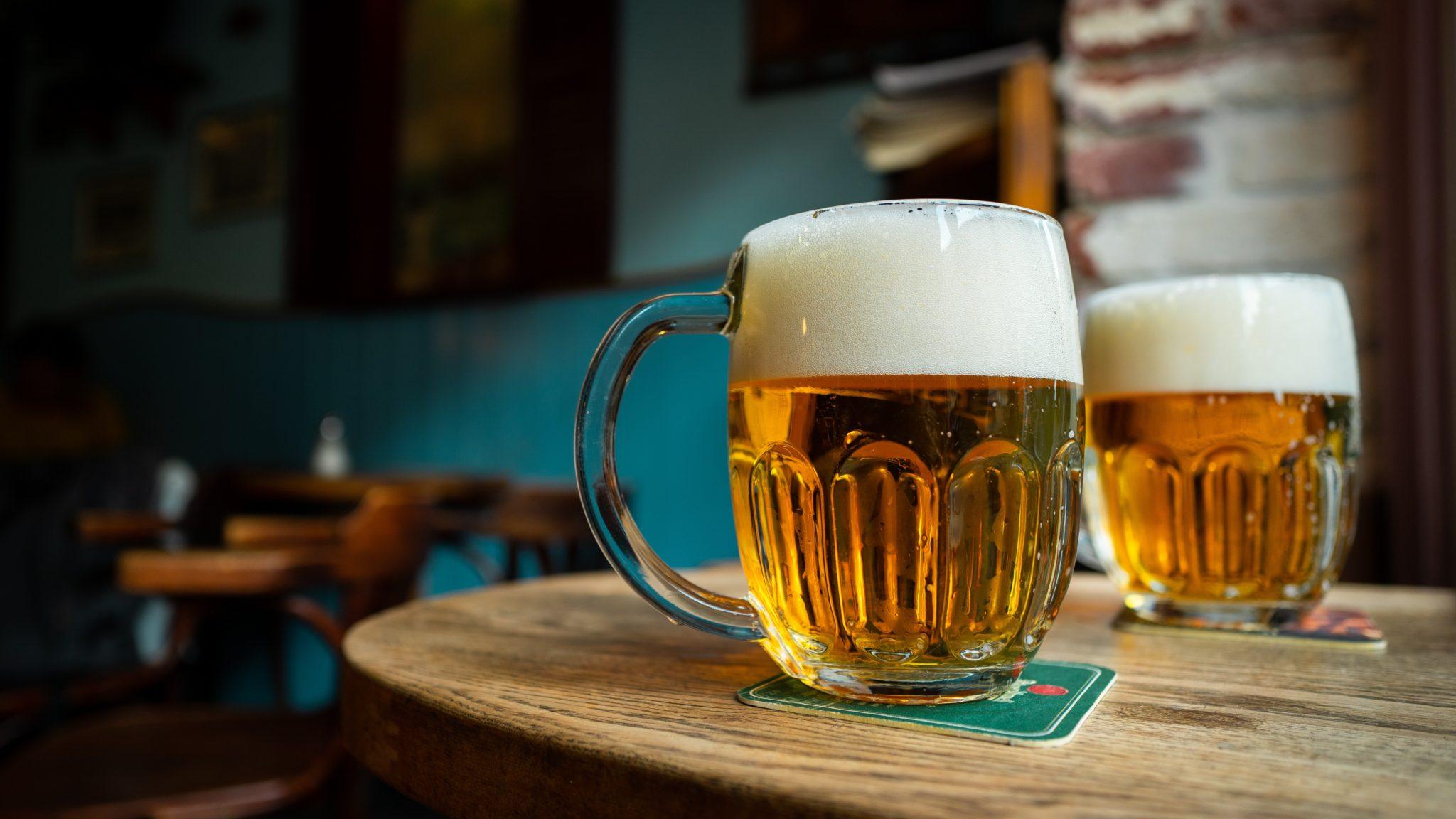 Bière Pilsner dans son verre