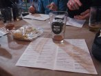 We worked from the beer menu to find the beers we wanted to try.