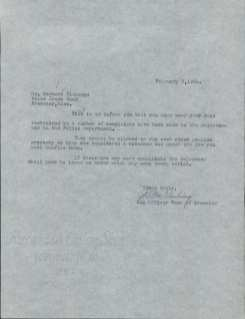 On February 3, 1964, Dog Officer Howard MacGlashing writes to Herbert Eldredge. He tells him that he needs to confine his dogs or the Selectmen will have to issue an order!