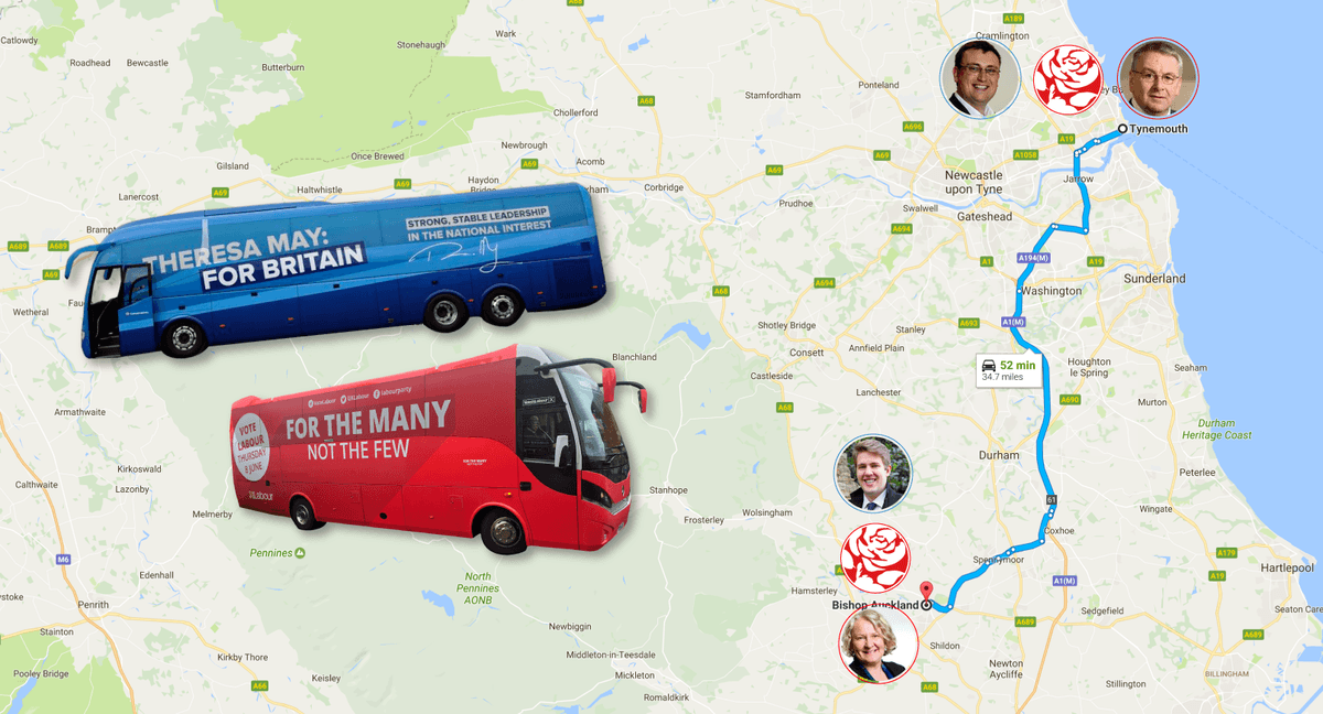 Could Labour Brexit backers help the Tories gain Tynemouth and Bishop Auckland?
