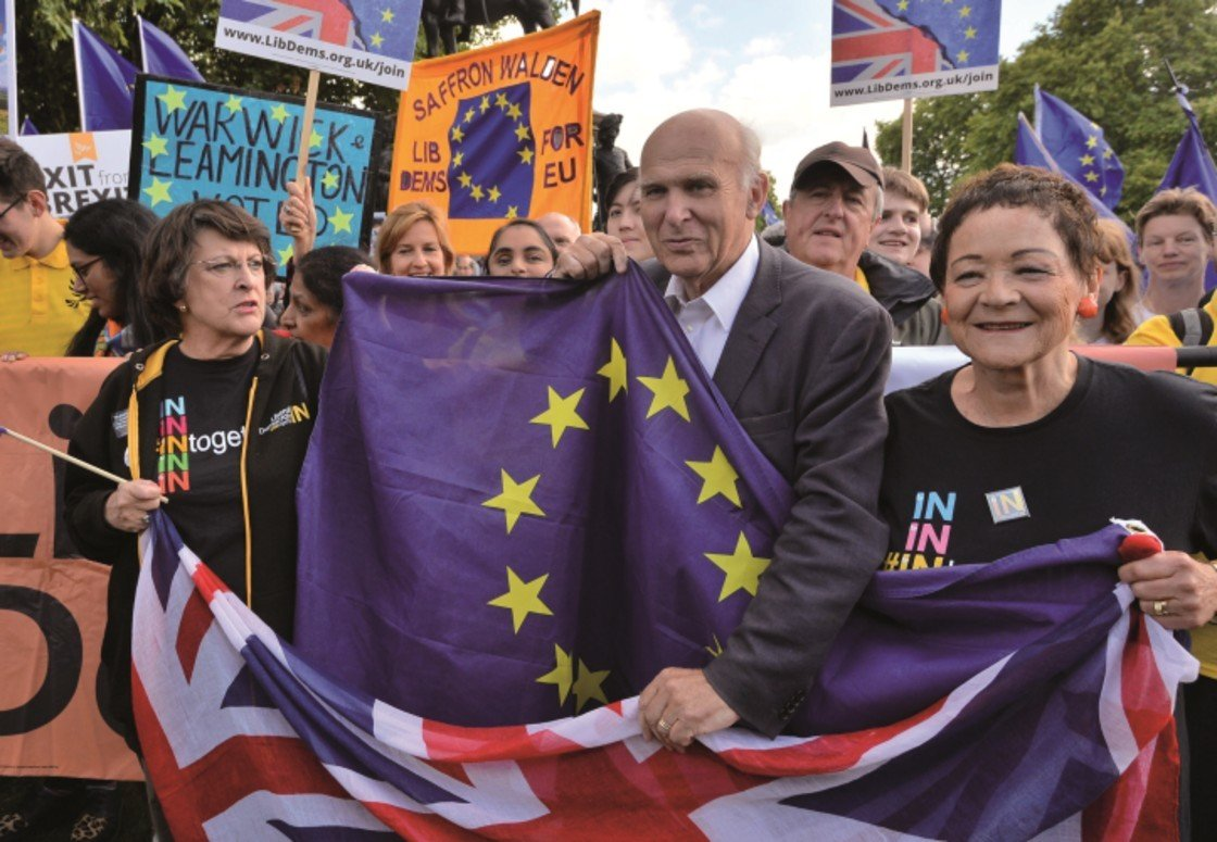 Vince Cable claims Brexit voters were driven by nostalgia for a world where 'passports were blue, faces were white and the map was coloured imperial pink': Brexit News for Monday 12 March