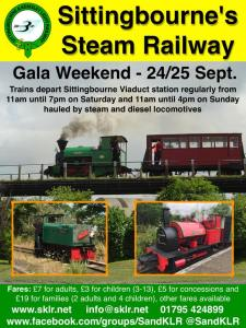 Gala Weekend at The Sittingbourne & Kemsley Light Railway