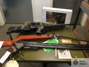 More than 300 guns handed over in Kent firearms surrender