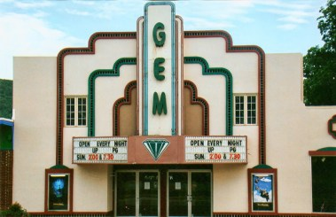 The Gem Theater, 117 W. Main St. in Heber Springs, as it looked in 2009. This version of the Gem opened in 1942, after a fire burned the original building to the ground. The theater is still showing movies and recently added 3D films to its repertoire.