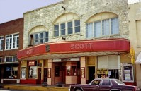 The Scott Theater, 281 S. Main St. in Waldron, as it looked in the 1980s. The theater was operating Friday-Monday, but closed in April 2014.
