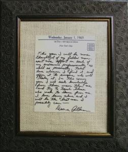 Duane Allman's diary