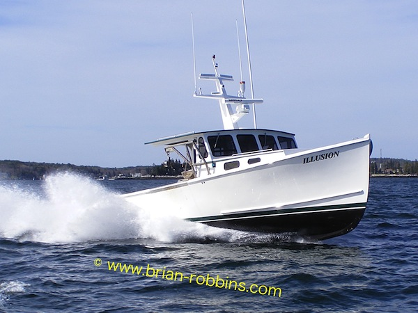 Illusion, a 45' Young Brothers owned by Nick Hawke, Southport, ME.