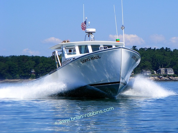Dana's Boat Shop of Westport Island, ME finished the 42' Wesmac Long Haul in 2012 for Hugh Bowen of Freeport.