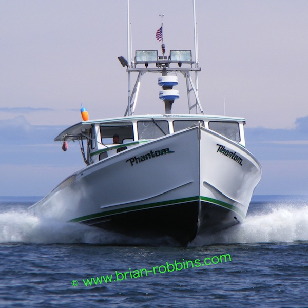 Nick Lemieux's 50' Phantom - a lengthened Osmond 47 built by Little River Boat Shop in Cutler, ME.