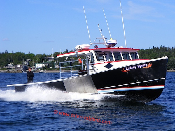 Audrey Lynne, a Libby 41 finished by Norman Libby for Frenchboro, ME lobsterman Wyatt Beal. (2013)