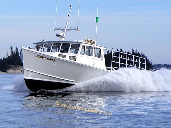 H&H Marine in Steuben, ME built the Osmond 42 Stormi Gayle for Stonington lobsterman Garrett Steele. (2013)