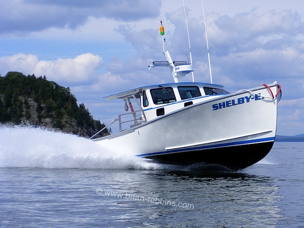 Shelby E is a Holland 38 custom finished by Marine Systems of Southwest Harbor, ME for Bar Harbor lobsterman Seth Kane. (2015)