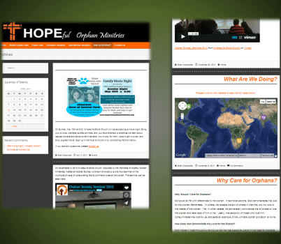 Blog and Archive Page