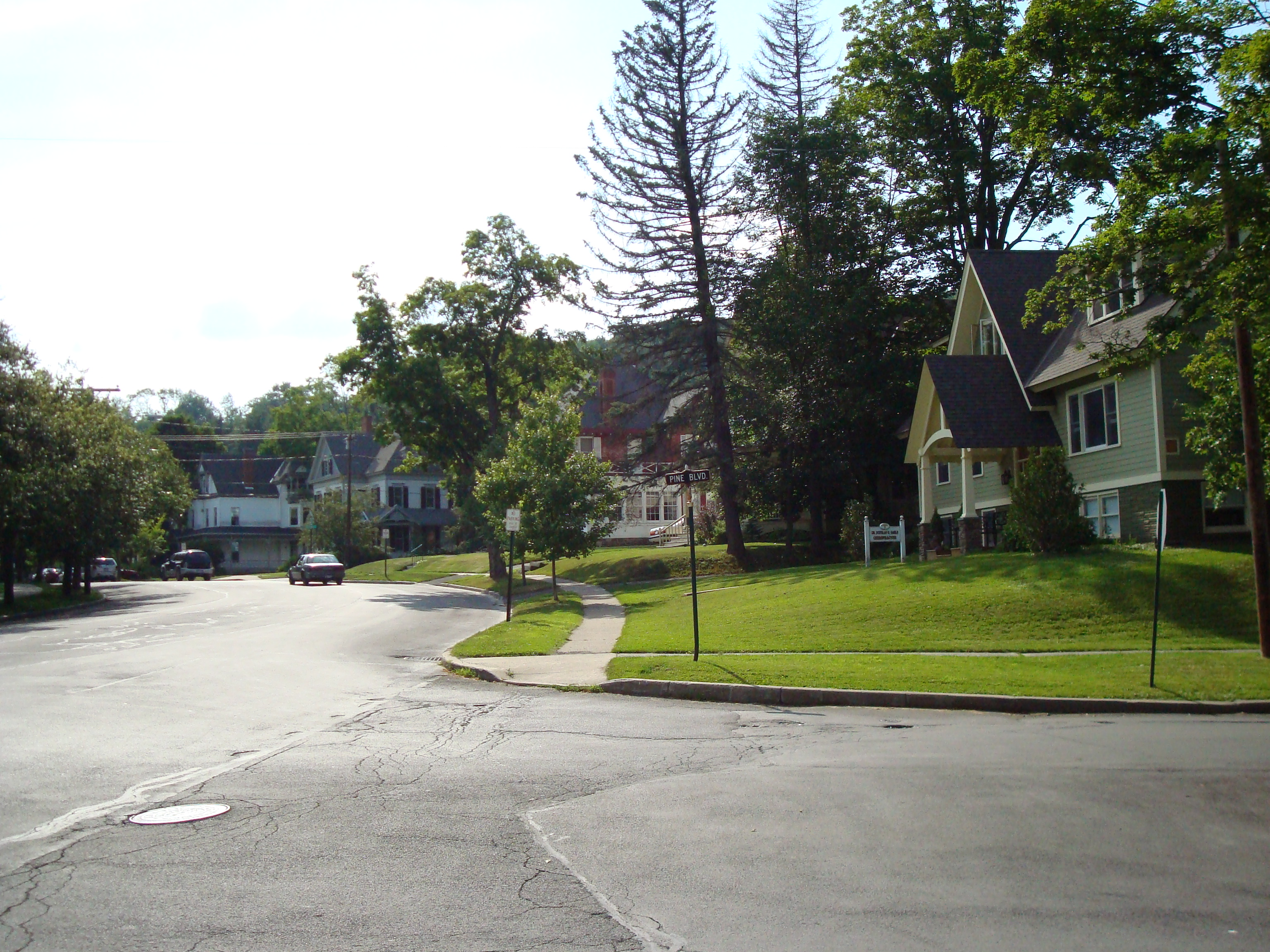 One of the streets in Cooperstown