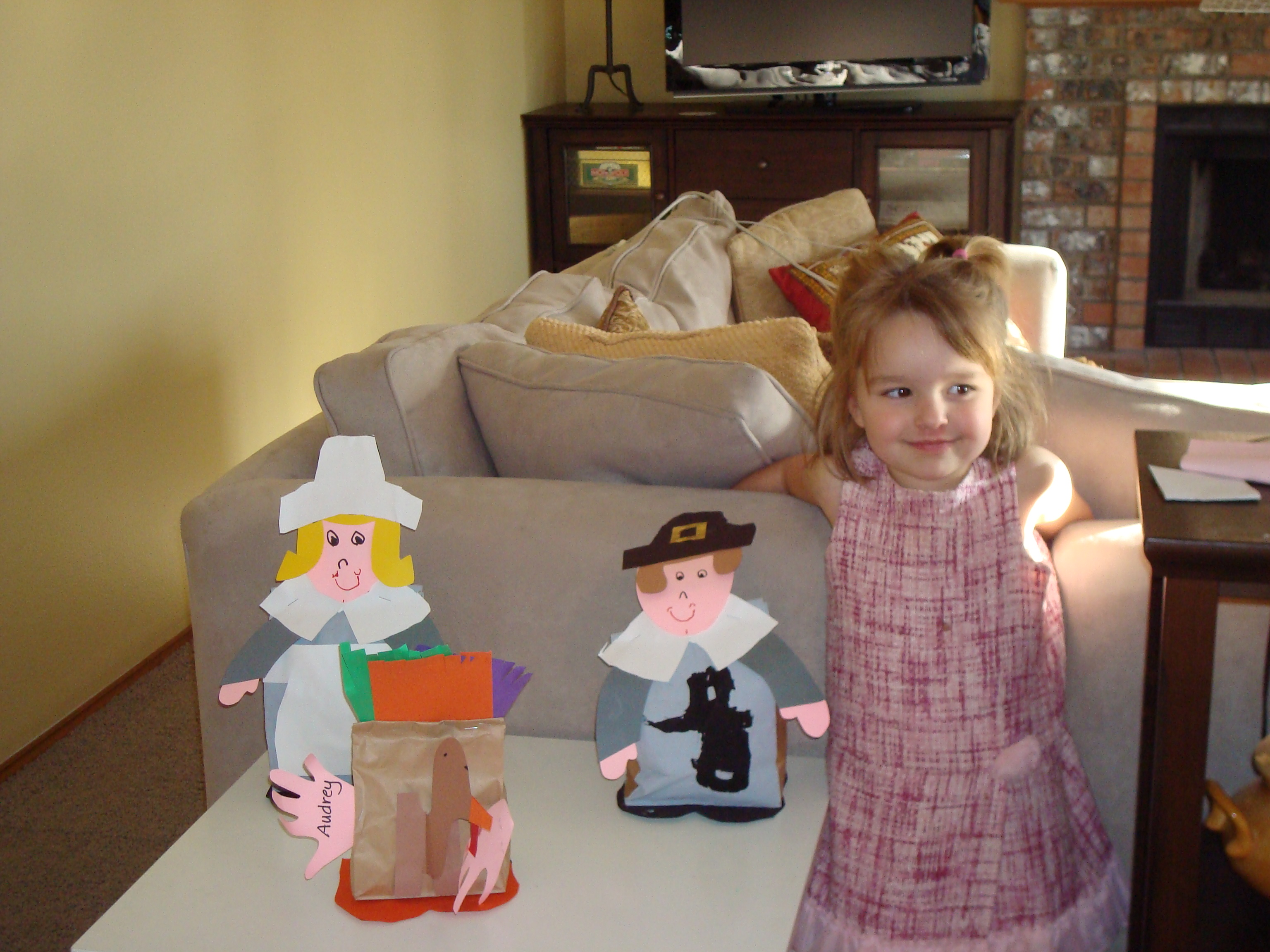 Audrey and her pilgrims