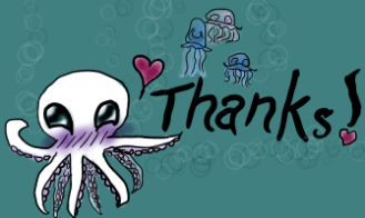 Tiny Thank You Doodle for August