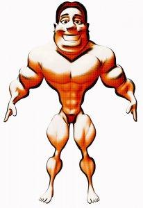 muscle man cartoon pixa