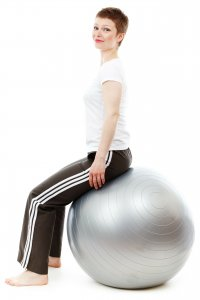 Woman Exercise Fitness Ball