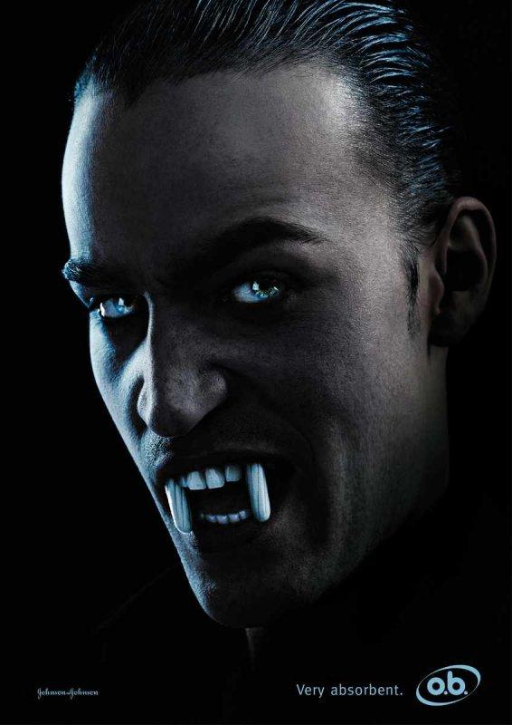 o.b. Dracula Tampon Ad - © Draftfcb/Lowe Group, Zurich, Switzerland