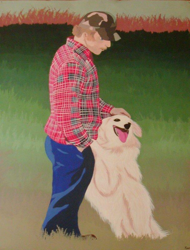Painting Man Dog - © Briana Blair