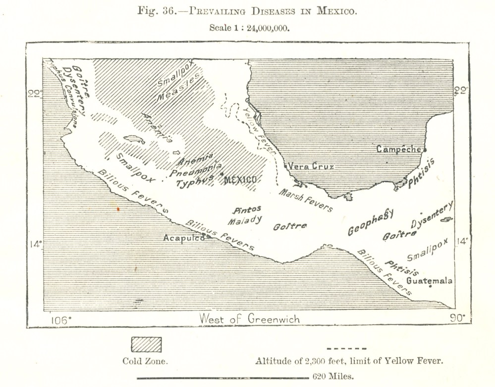 Central Mexico Disease Geography (ca. 1880) (1/6)