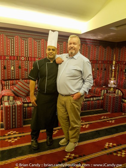Chef Moiz Executive Chef for the Village and Me having a selfi