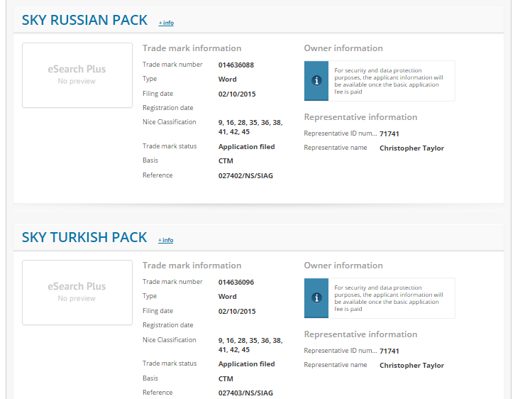 Sky Russian Pack