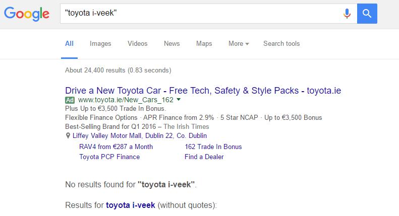 Toyota i-Veek trademark