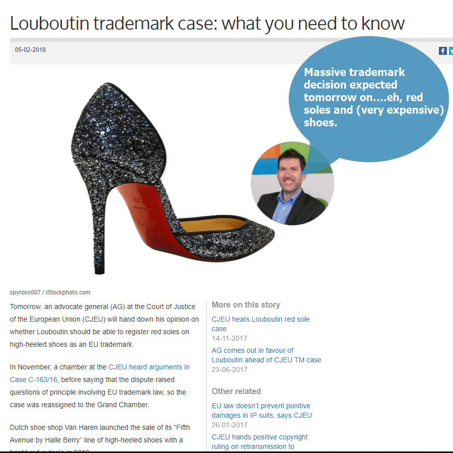 Kylie, Cronuts and LouBoutin's – Today's Interesting IP – Intellectual Property Stories – 5 February 2018