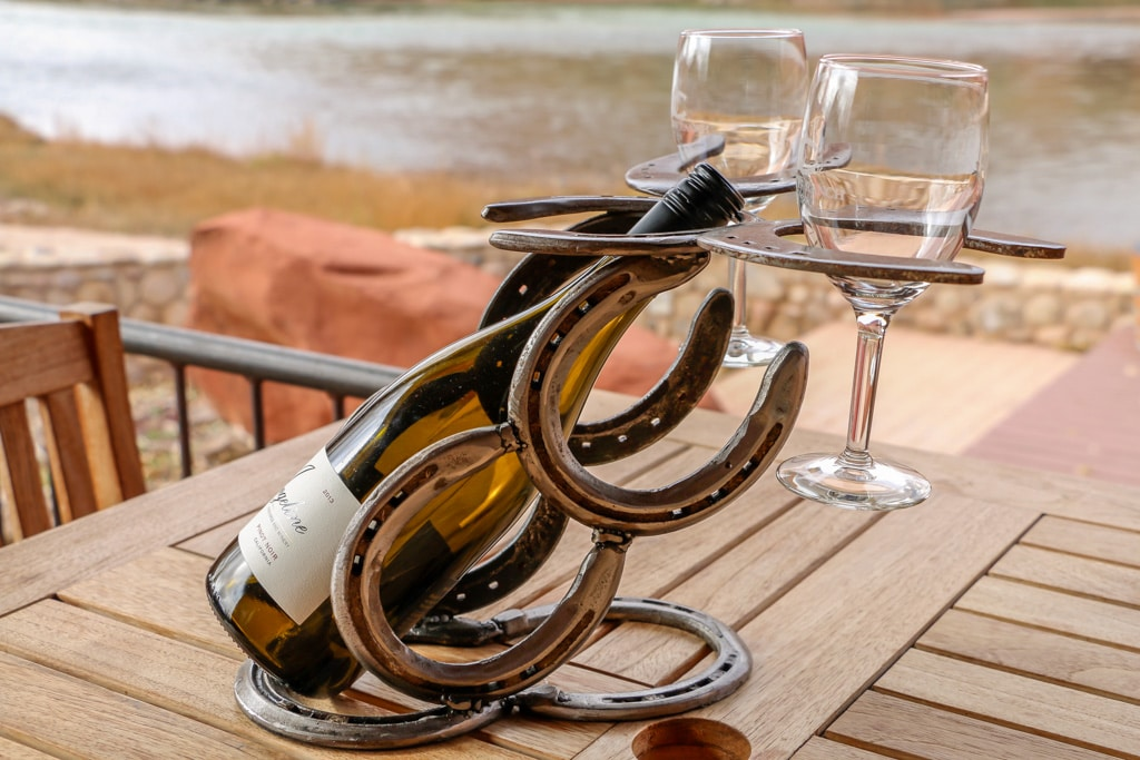 Tabletop Wine Rack With Glass Holders Brian Crandall Art
