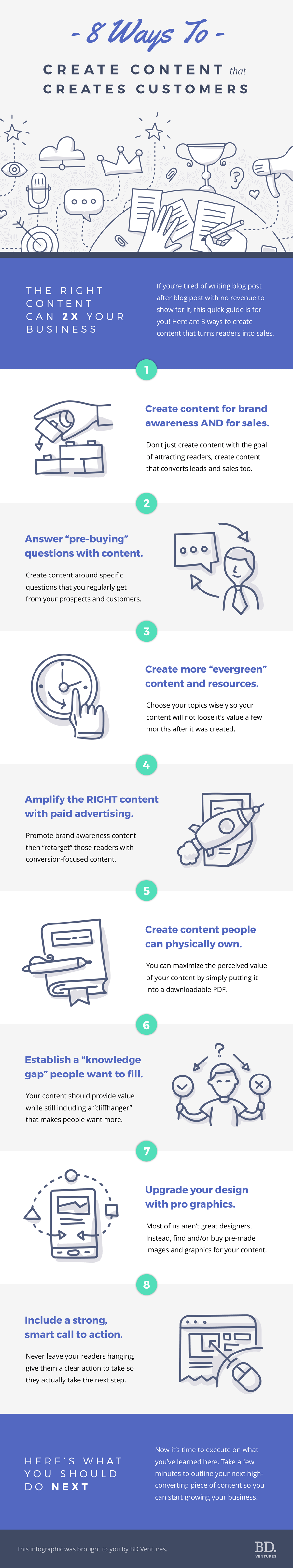8 Ways To Create Content That Creates Customers (Infographic)