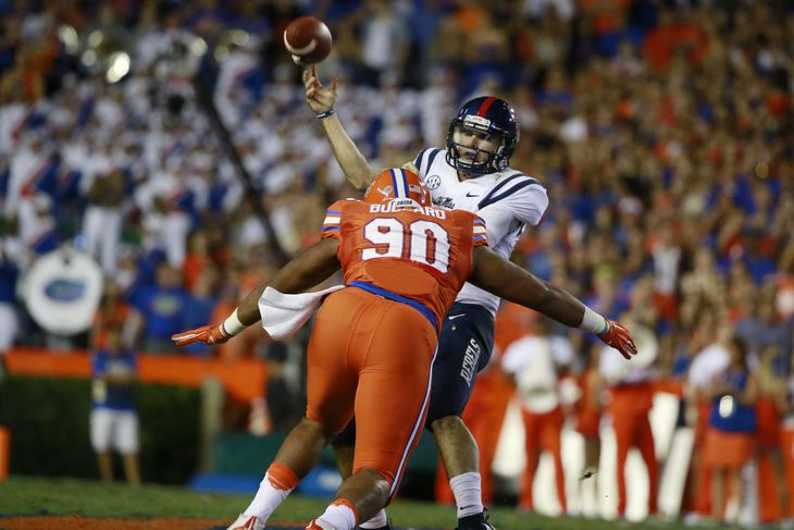 Jonathan Bullard has 50 tackles, 13.5 for losses and six sacks. However, the senior DT is listed as 'questionable' for Saturday's game vs. FSU due to a knee injury.
