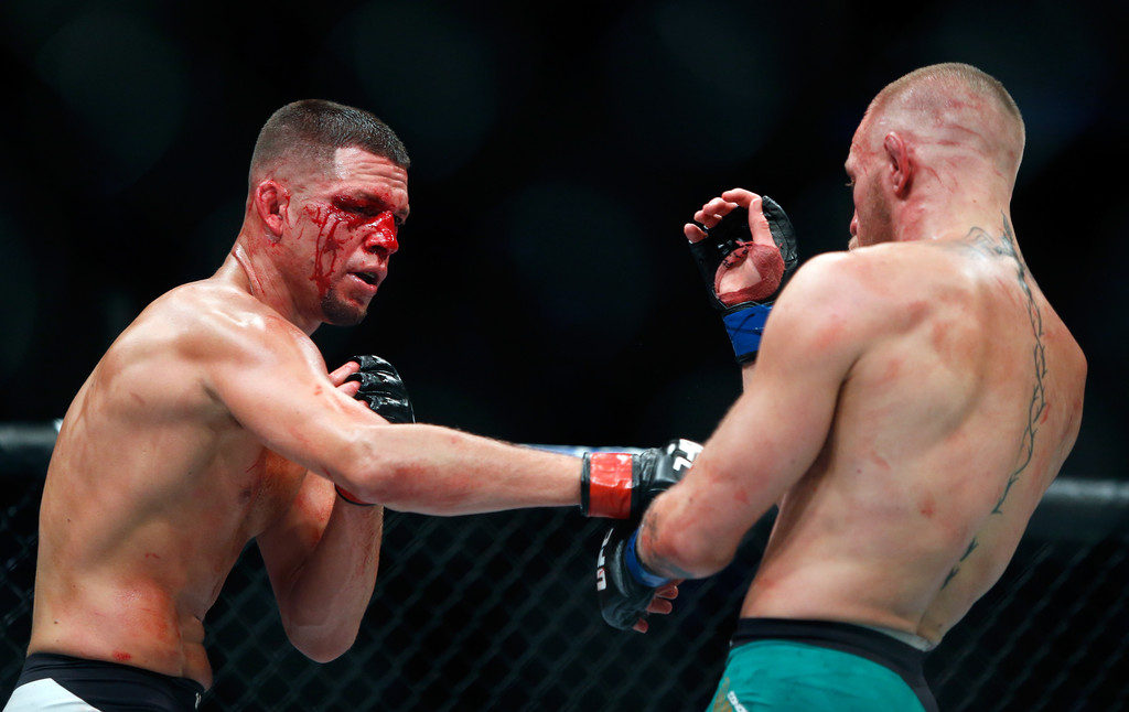Nate Diaz defeated Conor McGregor by second-round submission as a +400 underdog at UFC 196. In the rematch at UFC 202, McGregor won a majority decision as a -135 'chalk.'
