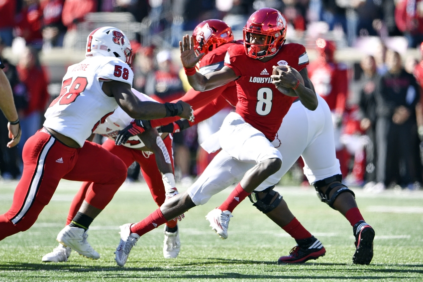 Lamar Jackson has an 18/4 TD-INT ratio and 16 rushing TDs for the Cardinals.