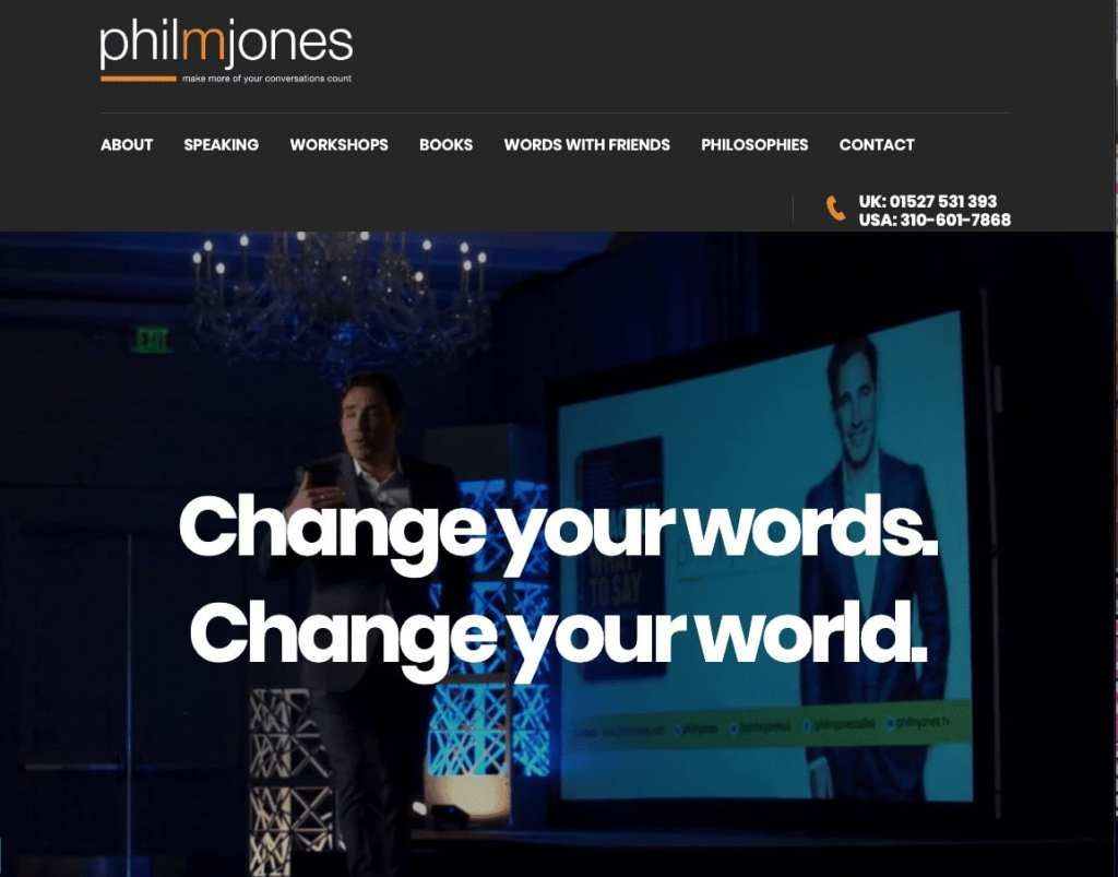 Professional Keynote Speaker Phil M Jones Website