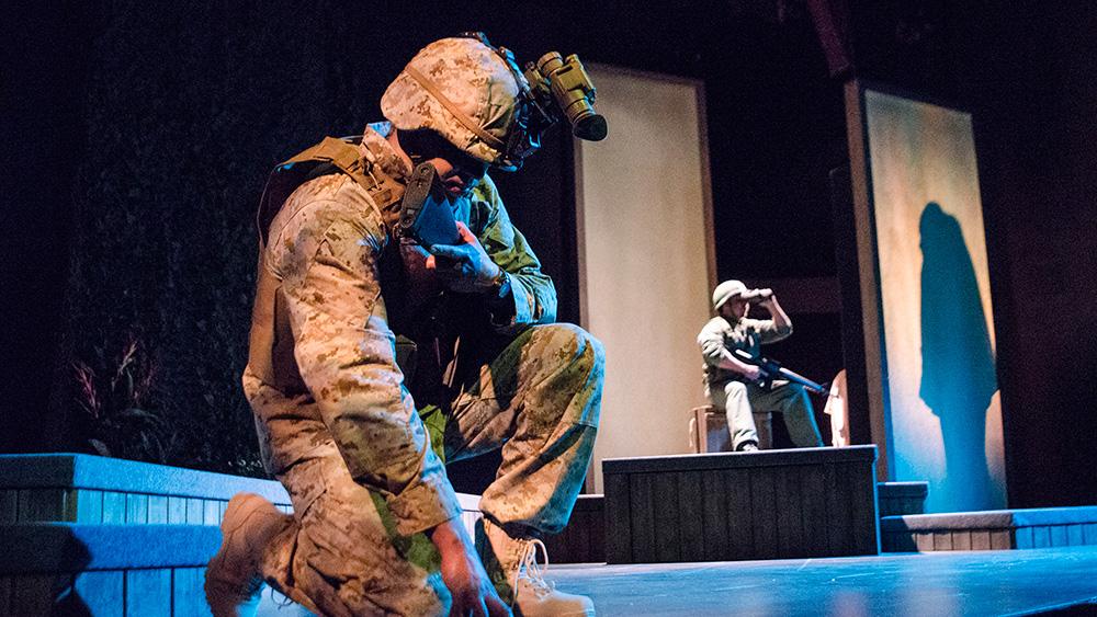 Thony Mena and Antonio Mercado in Elliot, A Soldier's Fugue. Photo: Michael Ensminger