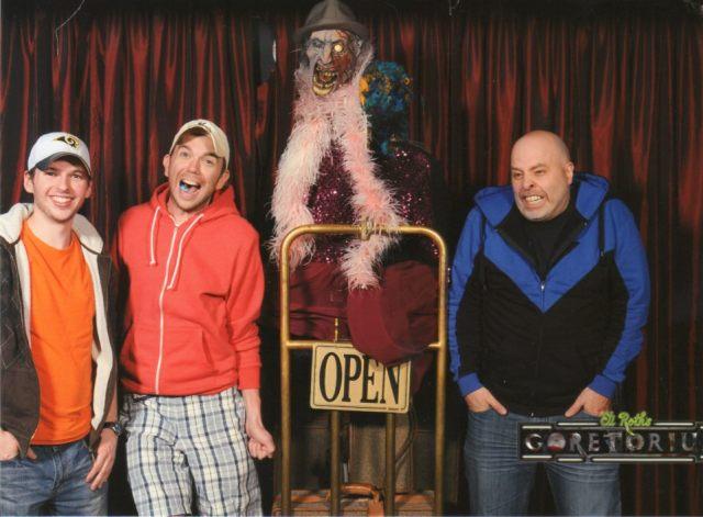 Chris, Mike, Brian at the Goretorium