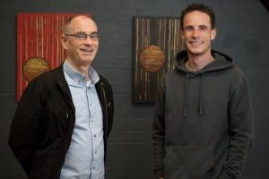 Brian Harris with Vose student Alan McGrechan.