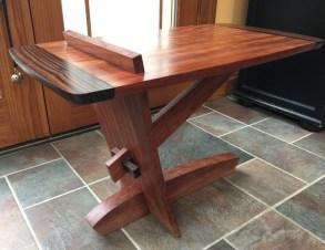 Bubinga macassar ebony side table