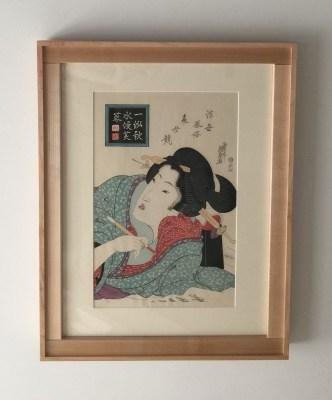 Eisen ukiyo-e with dovetail corner frame