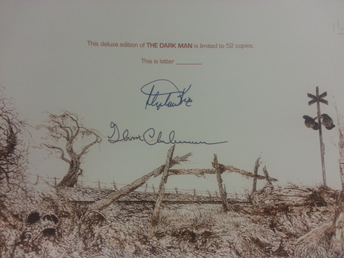 The Dark Man by Stephen King Lettered Edition Signature Sheet