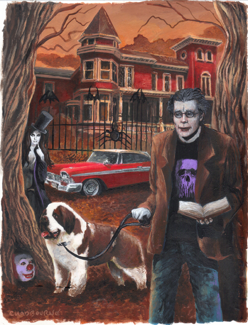 Stephen King Painting By Glenn Chadbourne