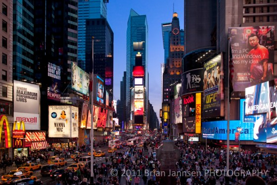 Times Square crowds Manhattan New York City