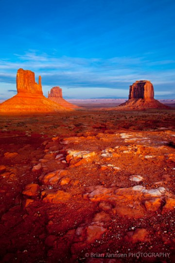 Mittens Merrick Butte sunset Monument Valley Navajo Tribal Park Arizona