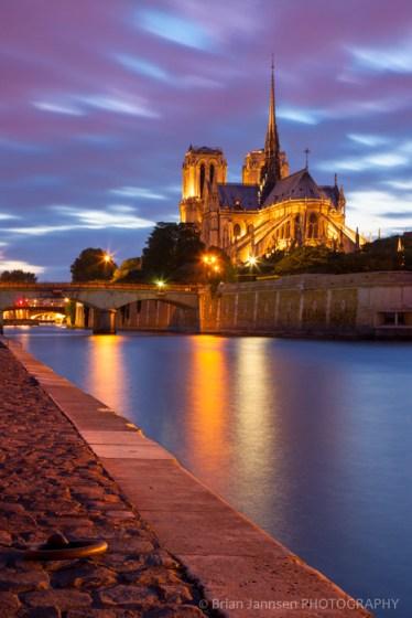 Cathedral Notre Dame River Seine Paris France