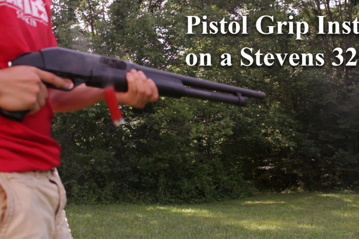 How To Install a Pistol Grip On a Savage Arms Stevens 320