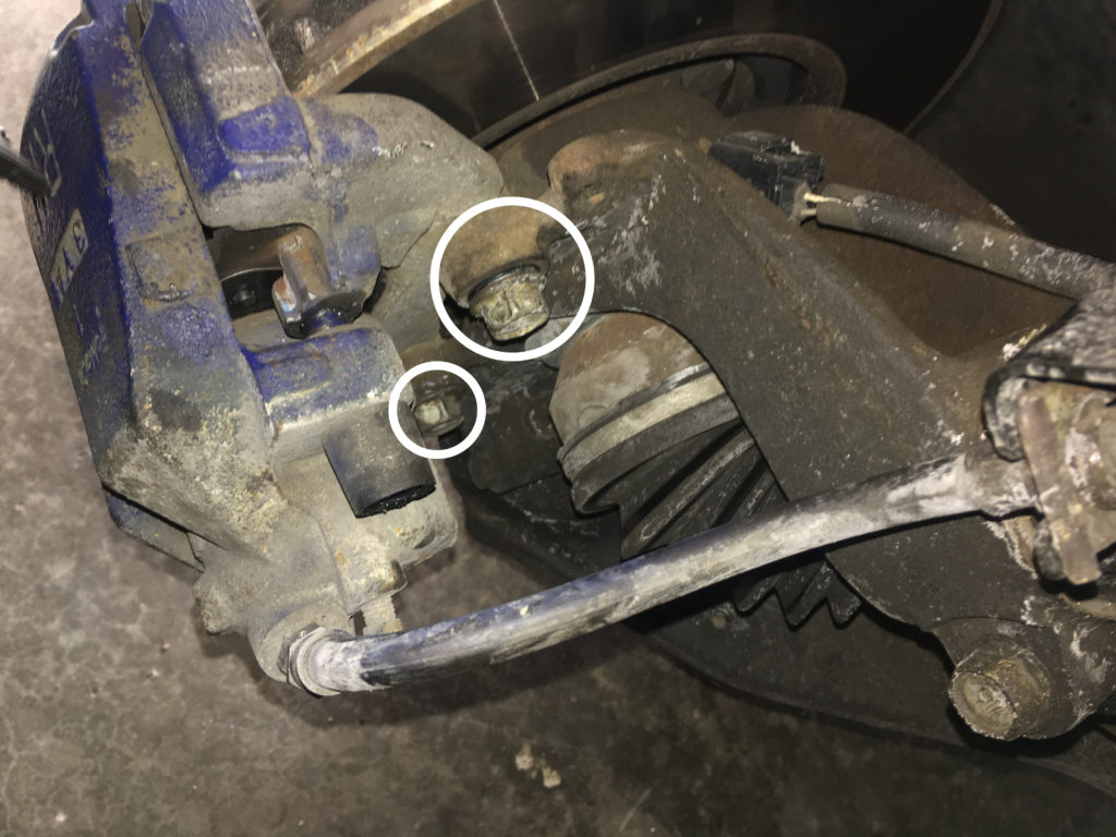 remove caliper on 2004 mazda 3
